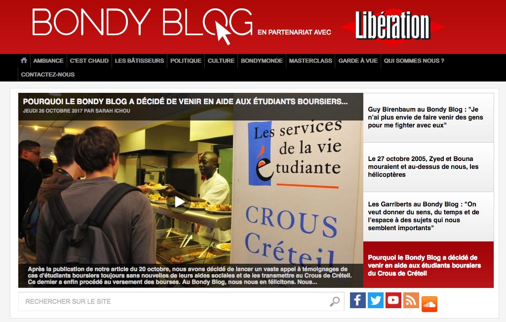 Quand Le Bondy Blog Fait Trembler Le Crous Strategies
