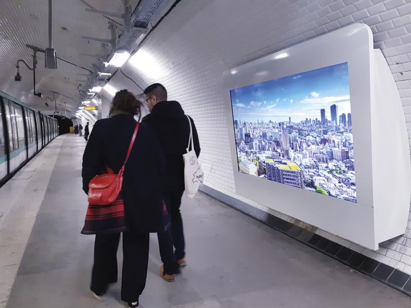 Le nouveau design publicitaire du métro